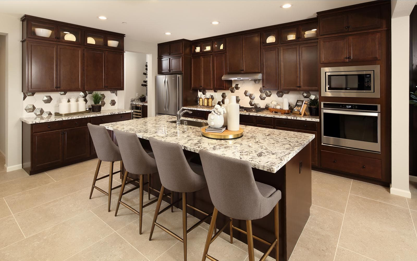 Kitchen Residence 5 Southport New Homes in Oakley CA Brookfield Residential