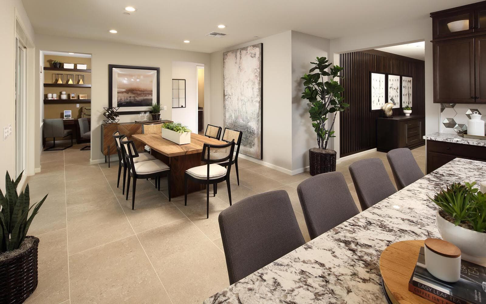 Kitchen to Dining Area Residence 5 Southport New Homes in Oakley CA Brookfield Residential