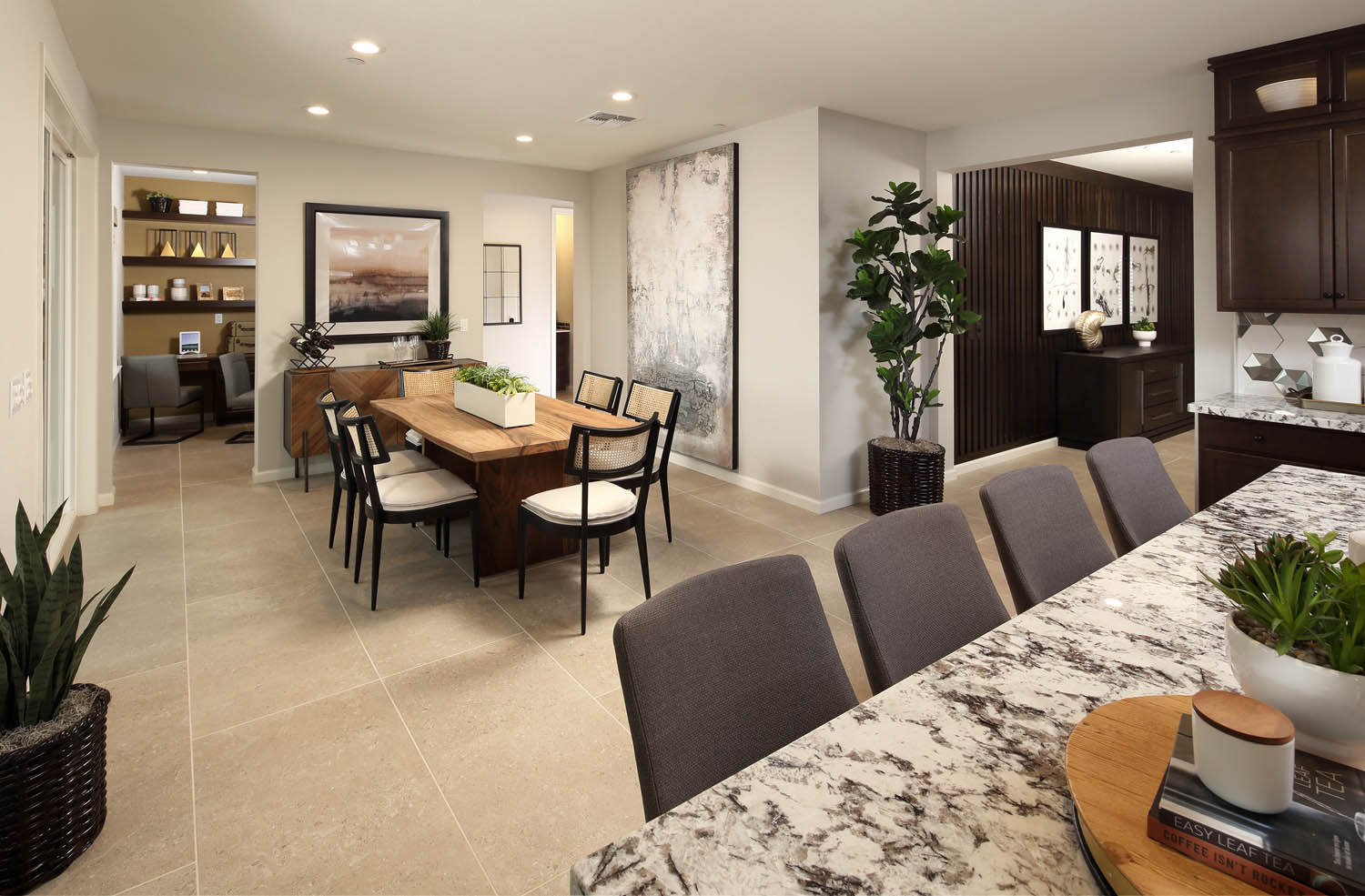 Kitchen to Dining Area | Residence 2 | Southport | New Homes in Oakley, CA | Brookfield Residential