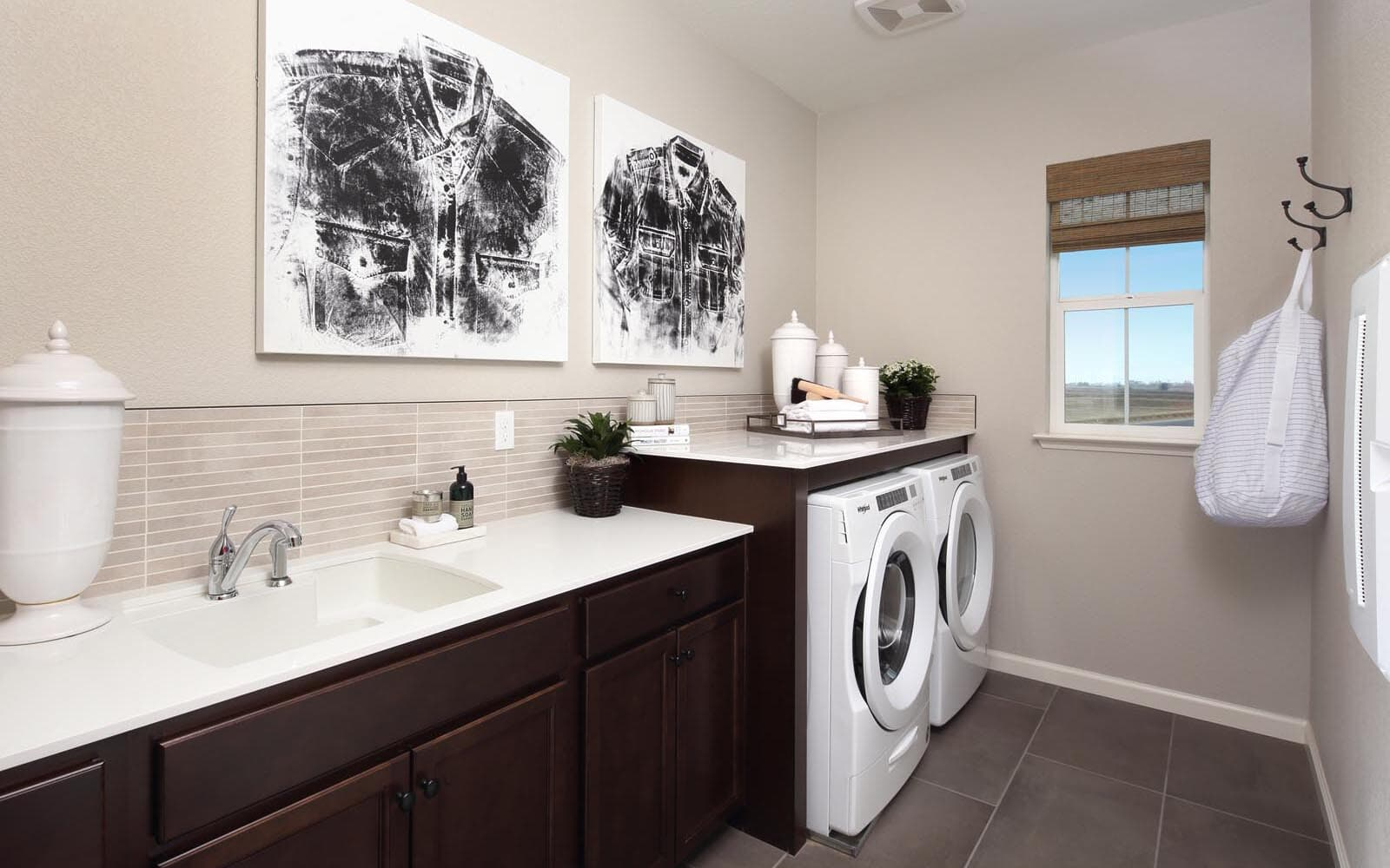 Laundry Room Residence 5 Southport New Homes in Oakley CA Brookfield Residential