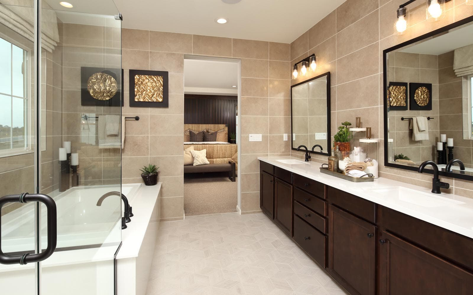Master Bathroom Residence 5 Southport New Homes in Oakley CA Brookfield Residential
