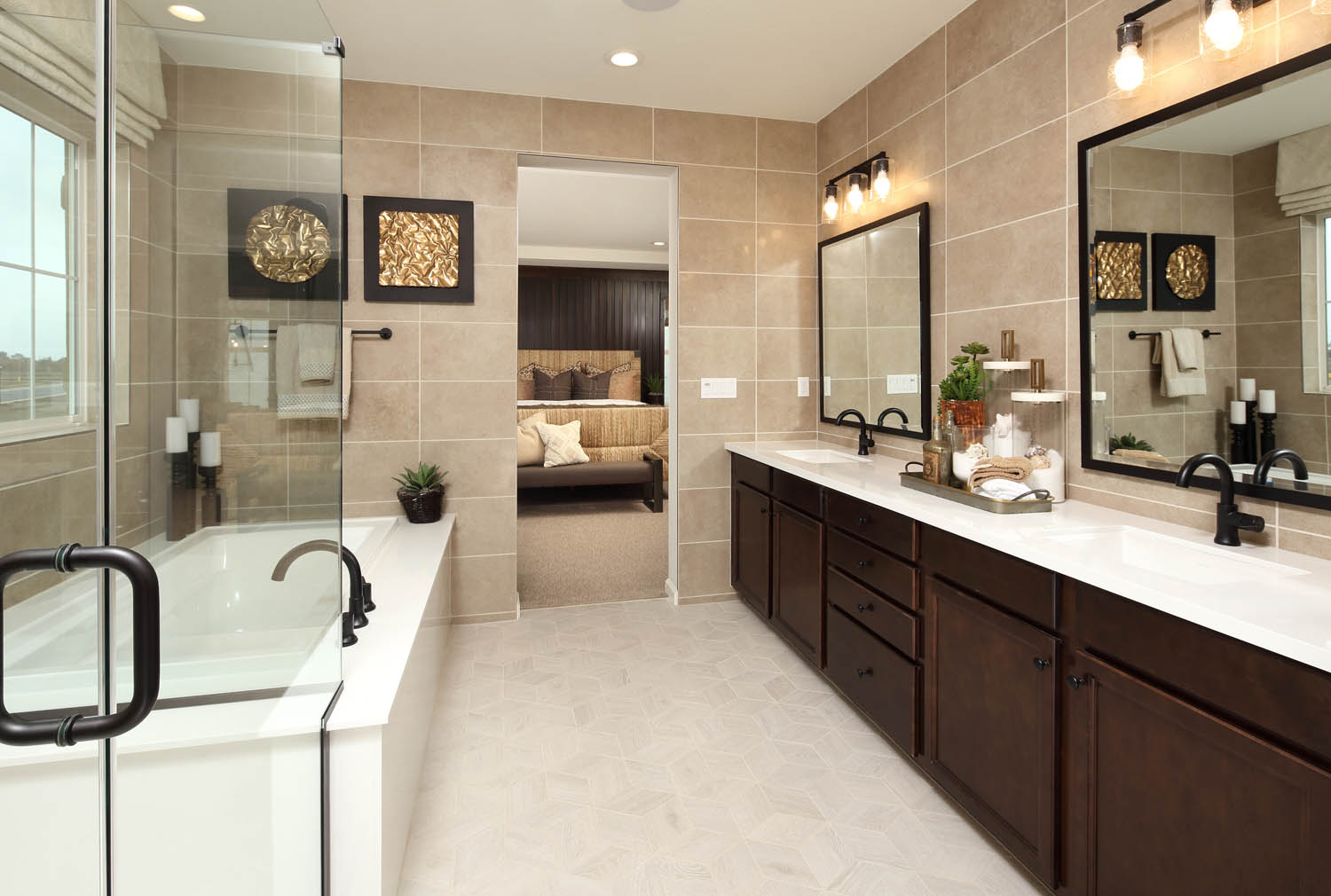 Master Bathroom | Residence 2 | Southport | New Homes in Oakley, CA | Brookfield Residential