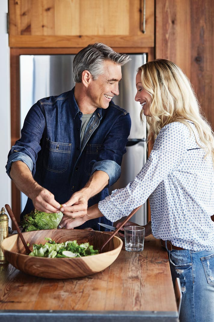 Couple Making Salad | Citrus at Emerson Ranch in Oakley, CA | Brookfield Residential