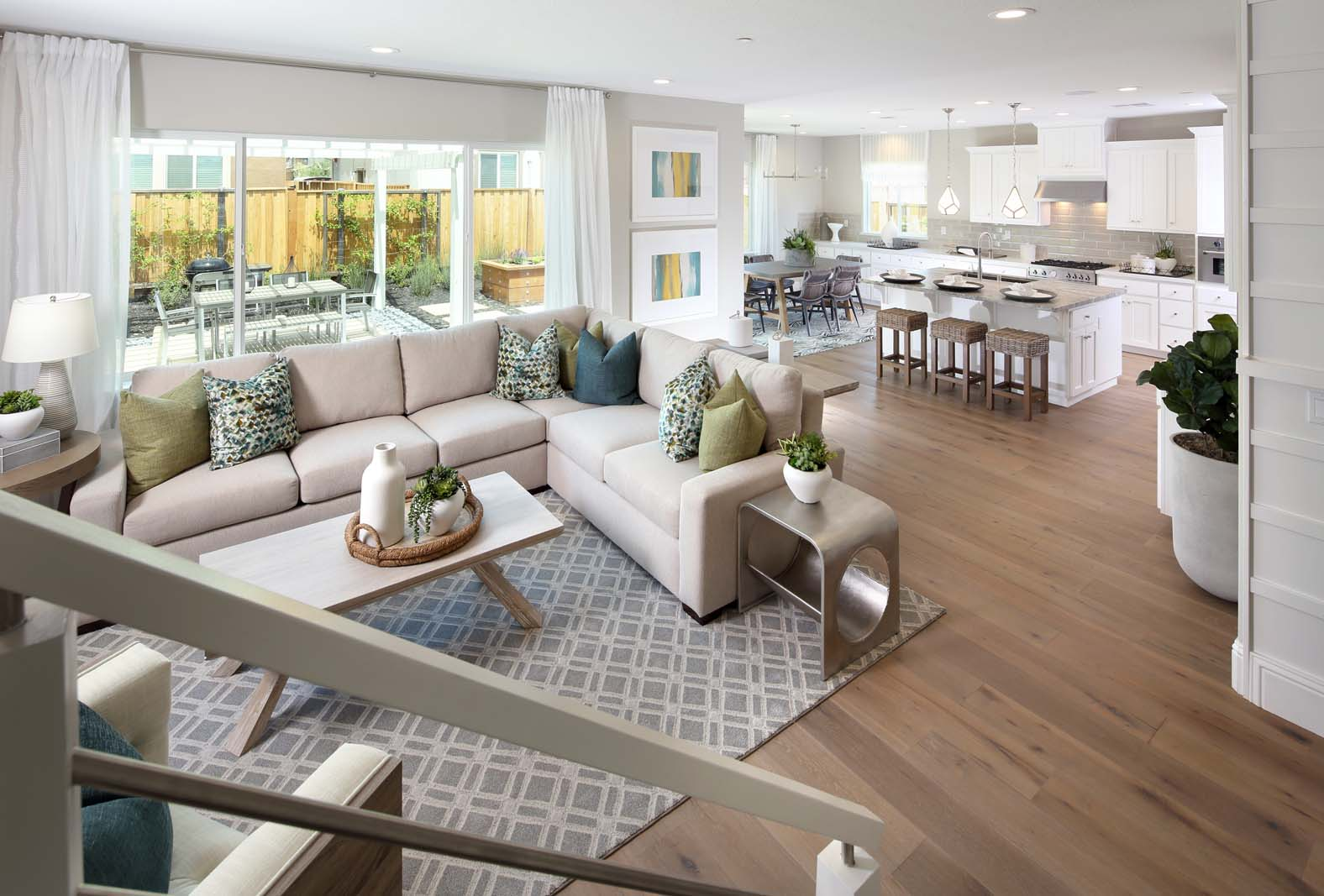Great Room to Kitchen Residence 1 | Citrus at Emerson Ranch in Oakley, CA | Brookfield Residential