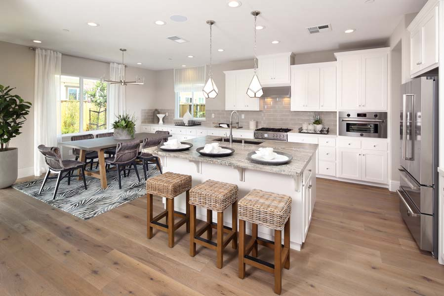Kitchen to Dining Residence 1 | Citrus at Emerson Ranch in Oakley, CA | Brookfield Residential