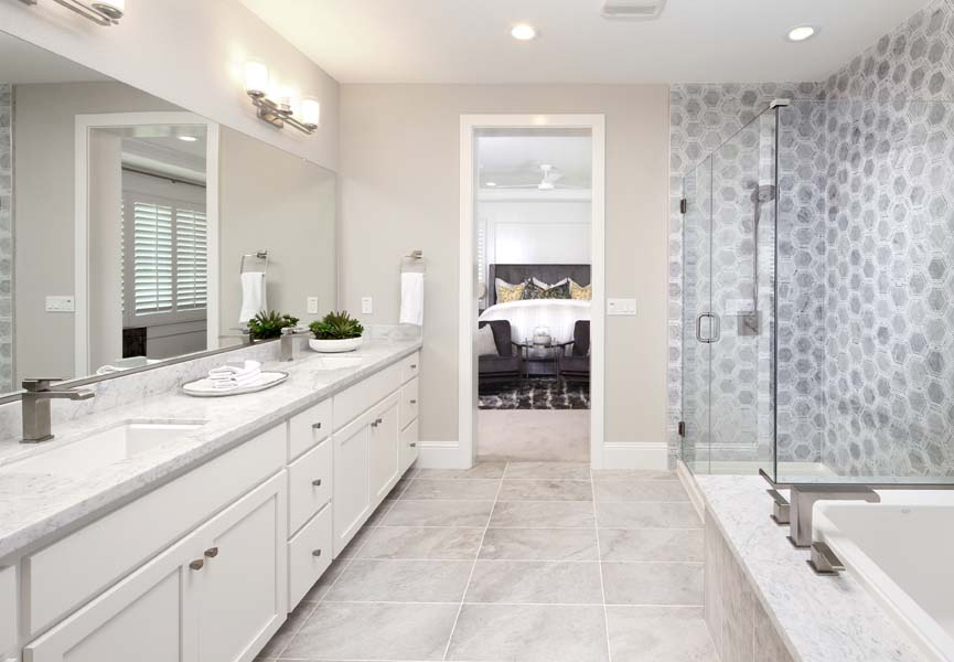 Master Bath Residence 1 | Citrus at Emerson Ranch in Oakley, CA | Brookfield Residential
