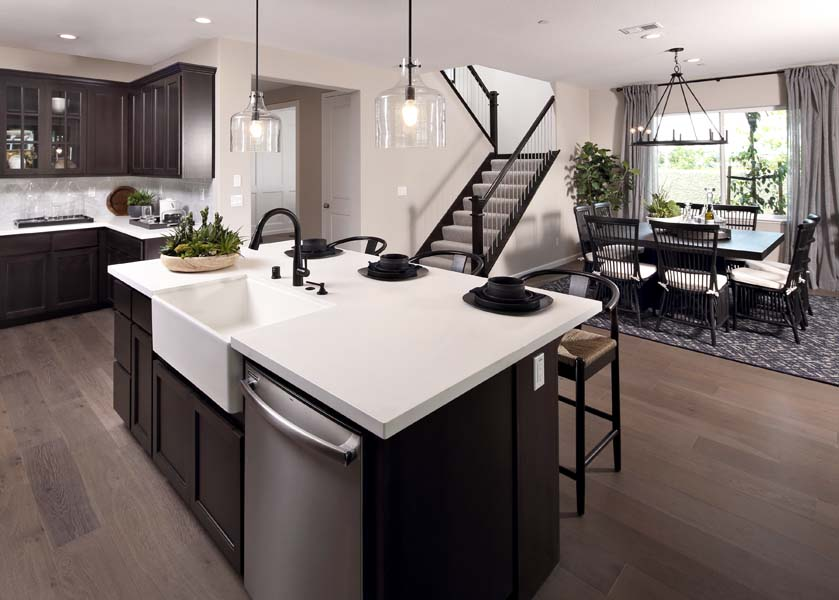 Kitchen to Dining Residence 3 | Citrus at Emerson Ranch in Oakley, CA | Brookfield Residential