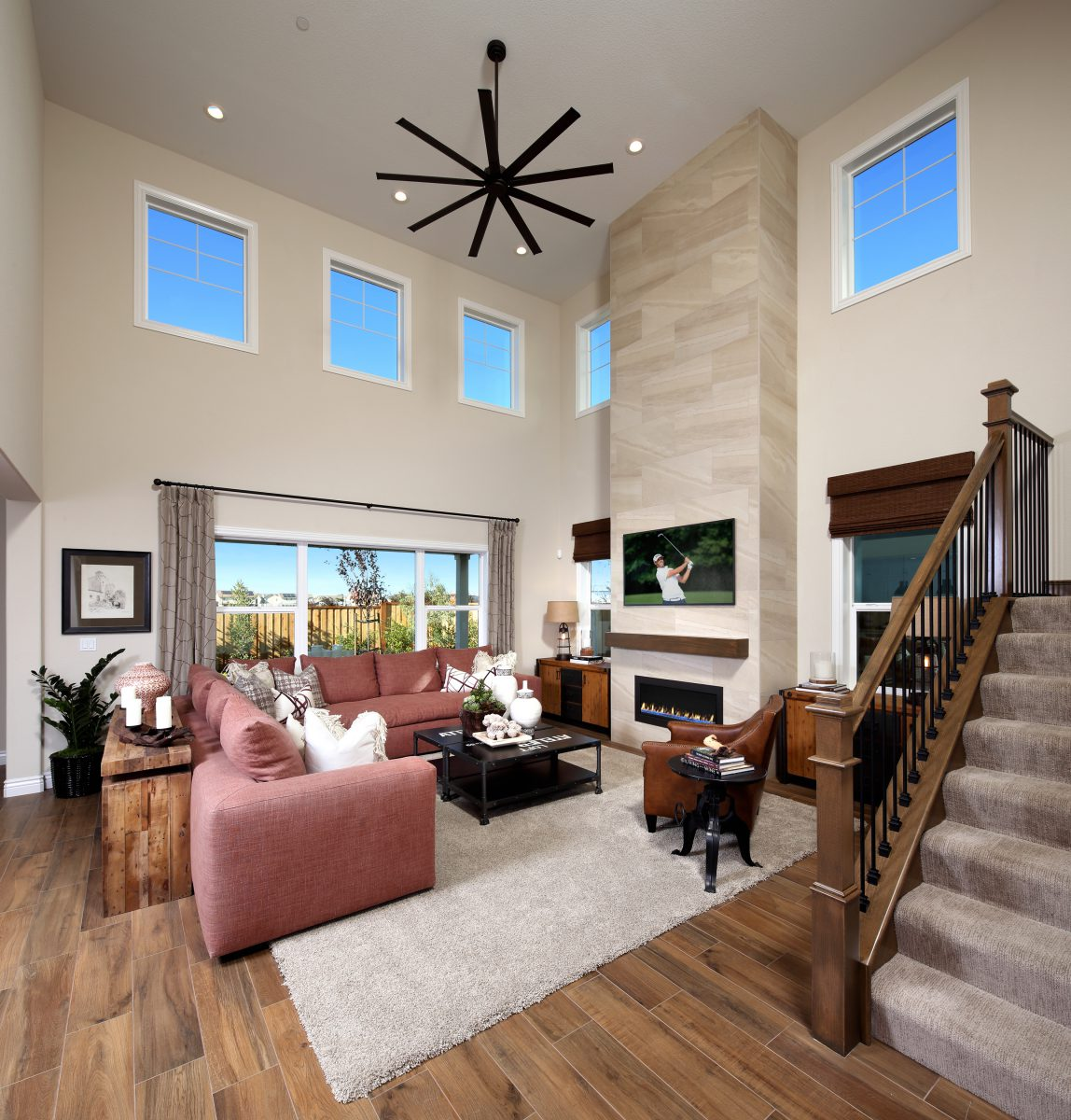 Residence 3 Great Room | Laurel at Emerson Ranch in Oakley, CA | Brookfield Residential
