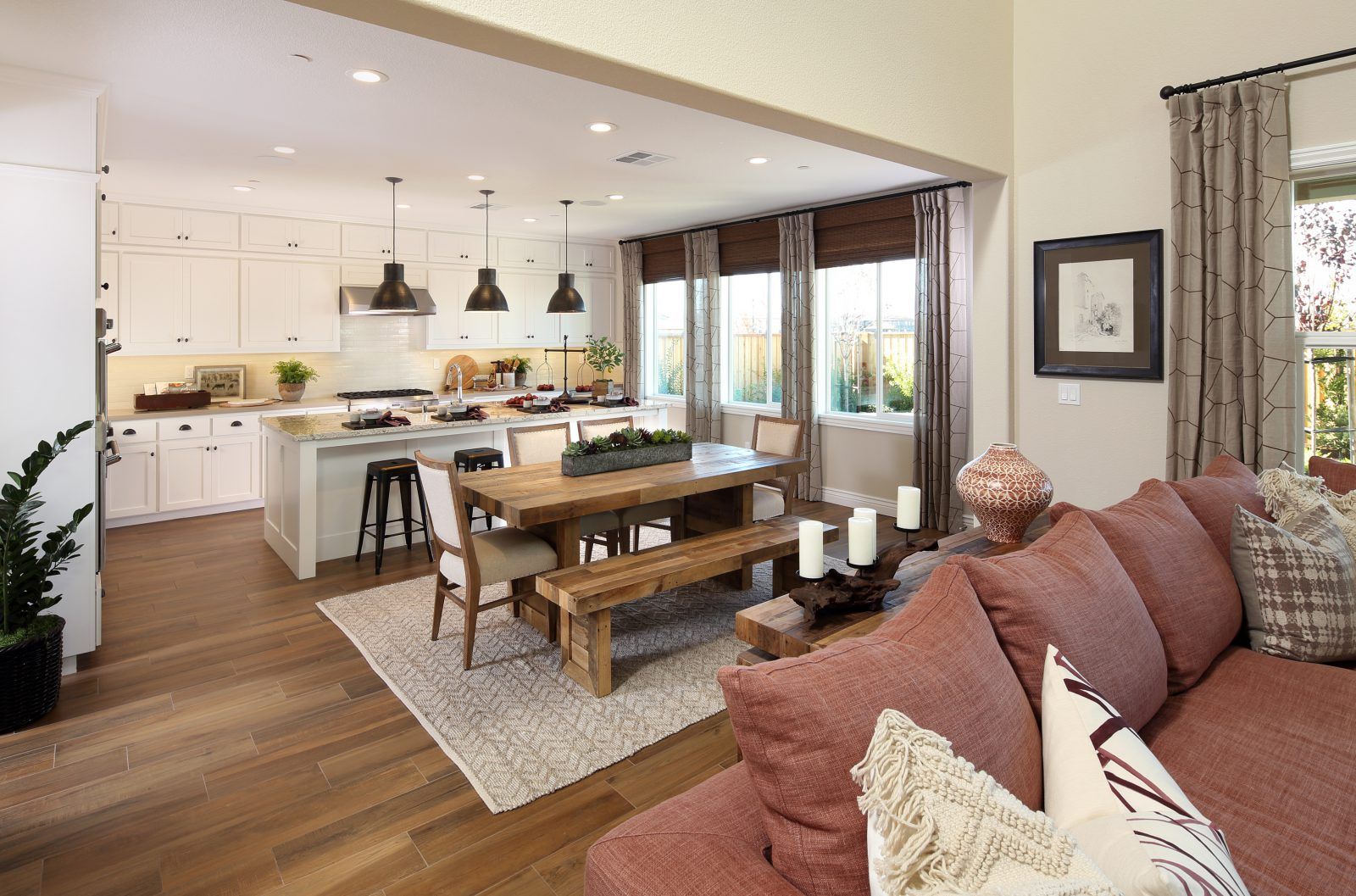 Residence 3 Kitchen to Dining Room | Laurel at Emerson Ranch in Oakley, CA | Brookfield Residential