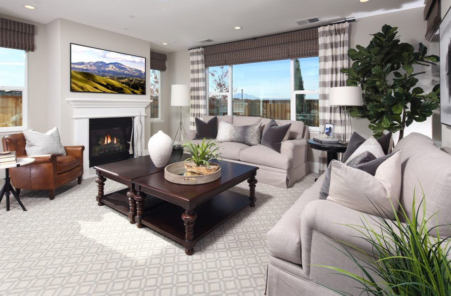 Residence 4 Great Room | Laurel at Emerson Ranch in Oakley, CA | Brookfield Residential
