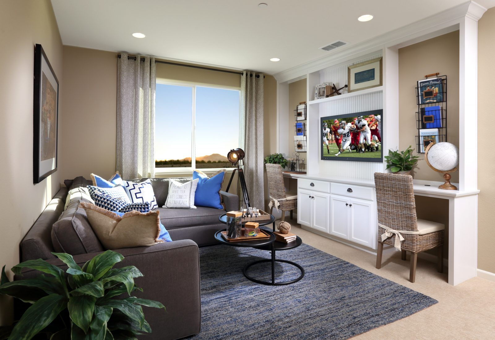 Living room in new luxury home | Merritt at Emerson Ranch in Oakley, CA | Brookfield Residential