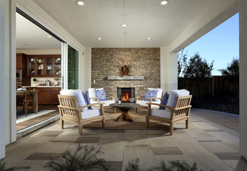 Patio in new luxury home | Merritt at Emerson Ranch in Oakley, CA | Brookfield Residential