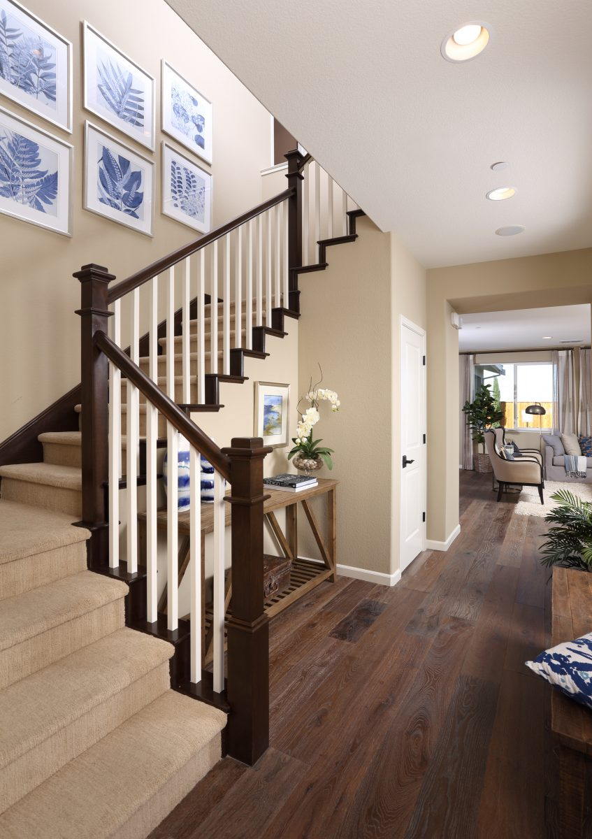 Stairway in new luxury home | Merritt at Emerson Ranch in Oakley, CA | Brookfield Residential