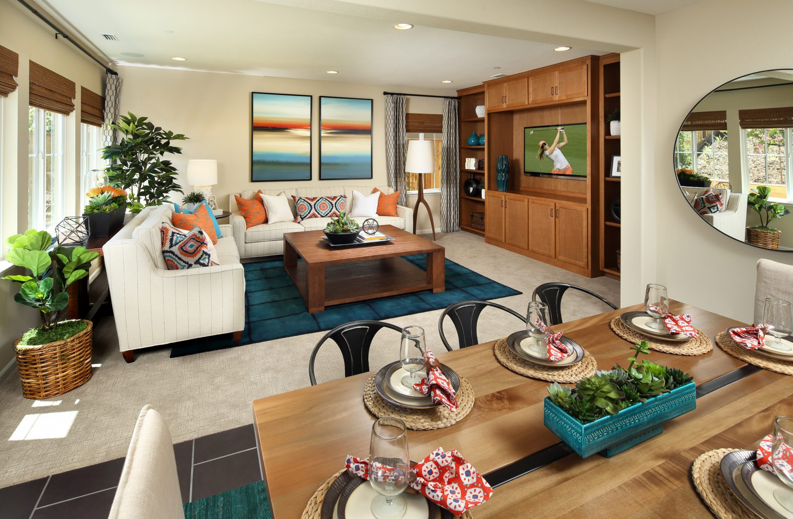 Great room in new luxury home | Ambrosia at Glen Loma Ranch in Gilroy, CA | Brookfield Residential