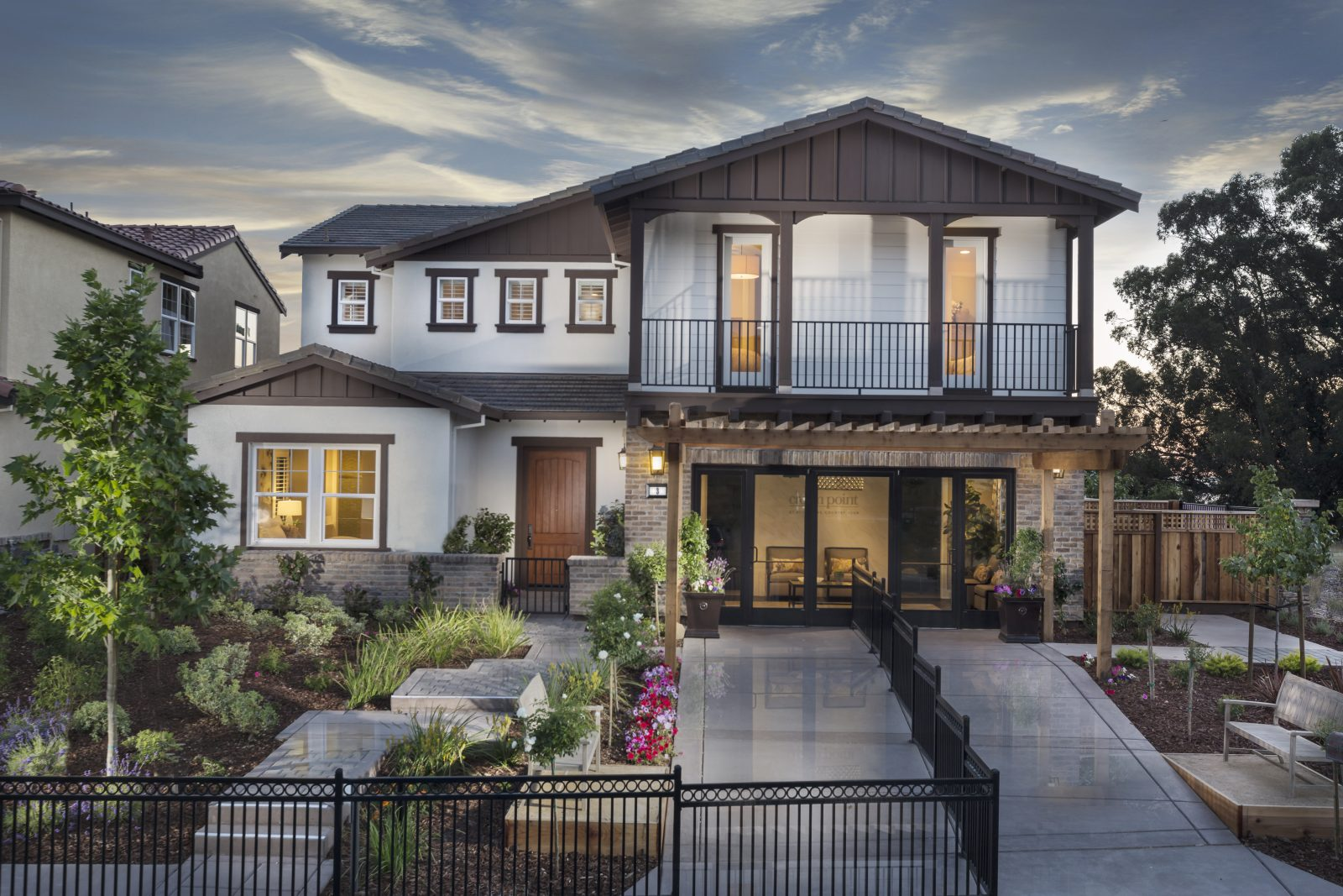 Front exterior of new luxury home | Crown Point at Stonebrae in Hayward, CA | Brookfield Residential