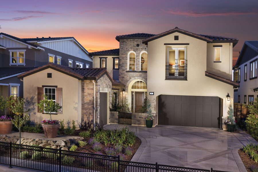 Front view of new luxury home | Crown Point at Stonebrae in Hayward, CA | Brookfield Residential