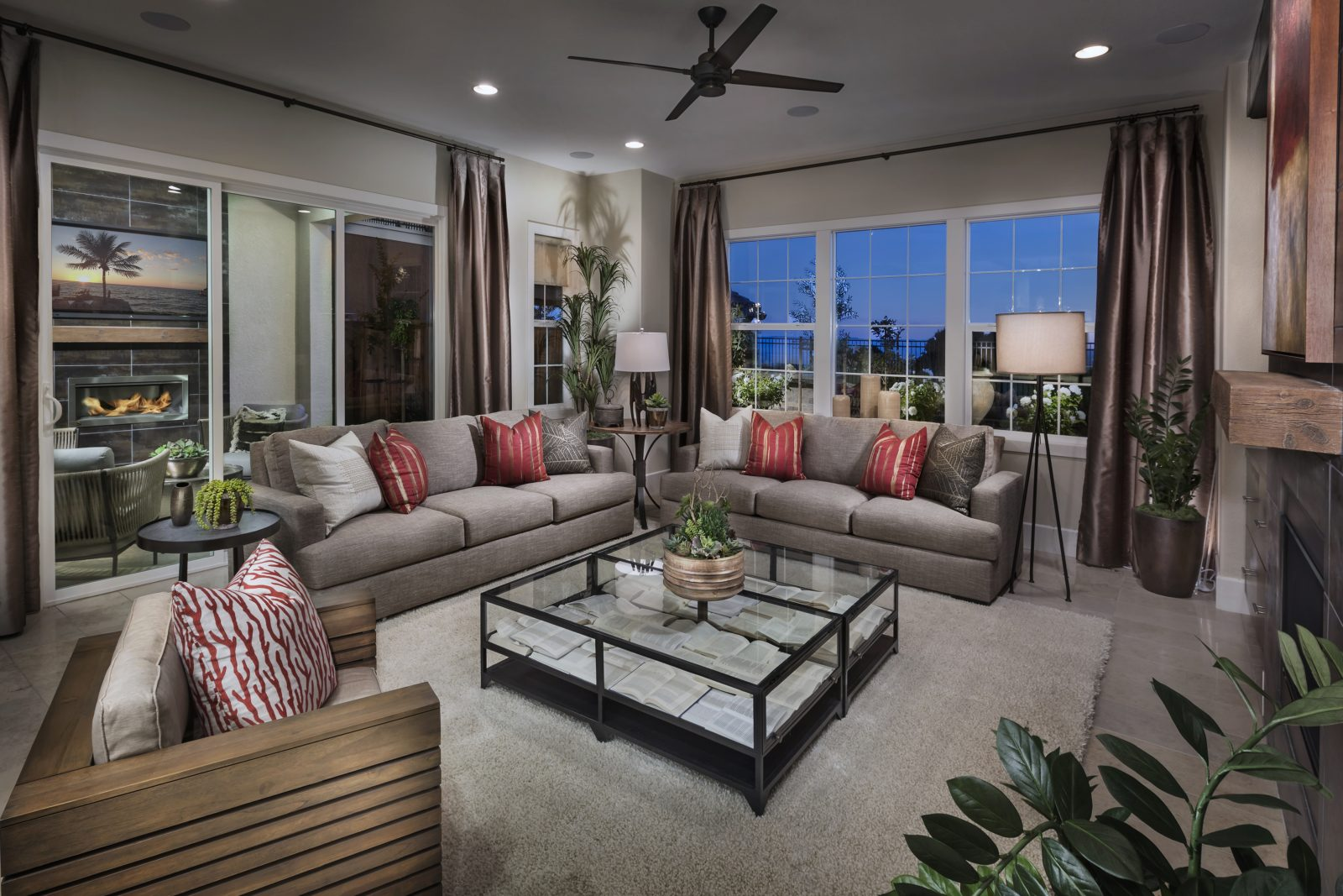Living room in new luxury home | Crown Point at Stonebrae in Hayward, CA | Brookfield Residential