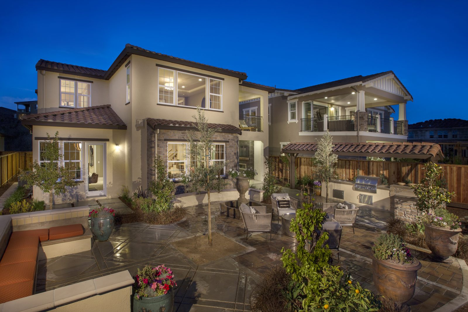 Rear exterior view of new luxury home | Crown Point at Stonebrae in Hayward, CA | Brookfield Residential