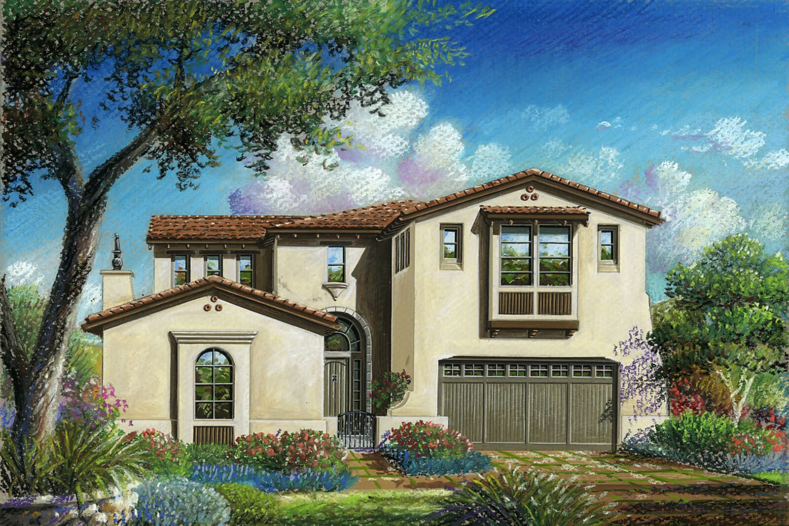 Residence 6AR Rendering | Crown Point at Stonebrae in Hayward, CA | Brookfield Residential