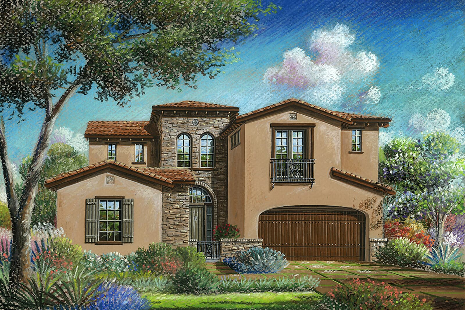 Residence 6BR Rendering | Crown Point at Stonebrae in Hayward, CA | Brookfield Residential