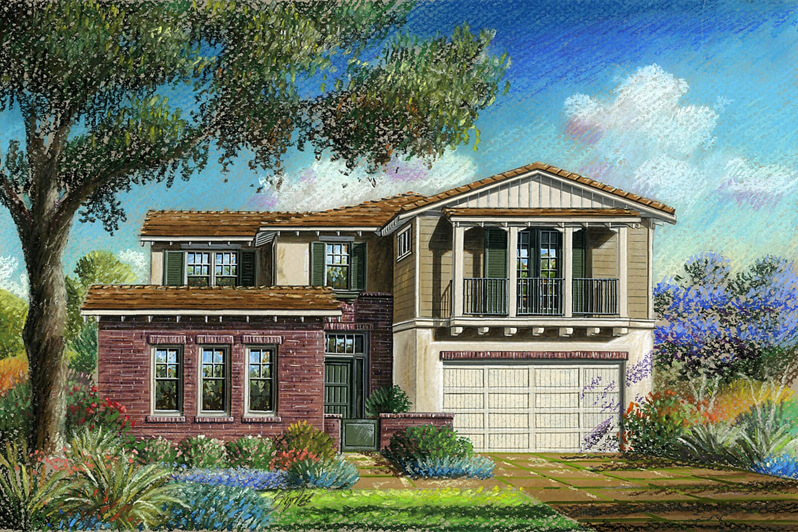 Residence 6DR Rendering | Crown Point at Stonebrae in Hayward, CA | Brookfield Residential