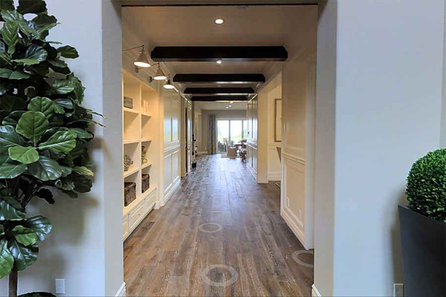 Hallway in new luxury home | Crown Point at Stonebrae in Hayward, CA | Brookfield Residential