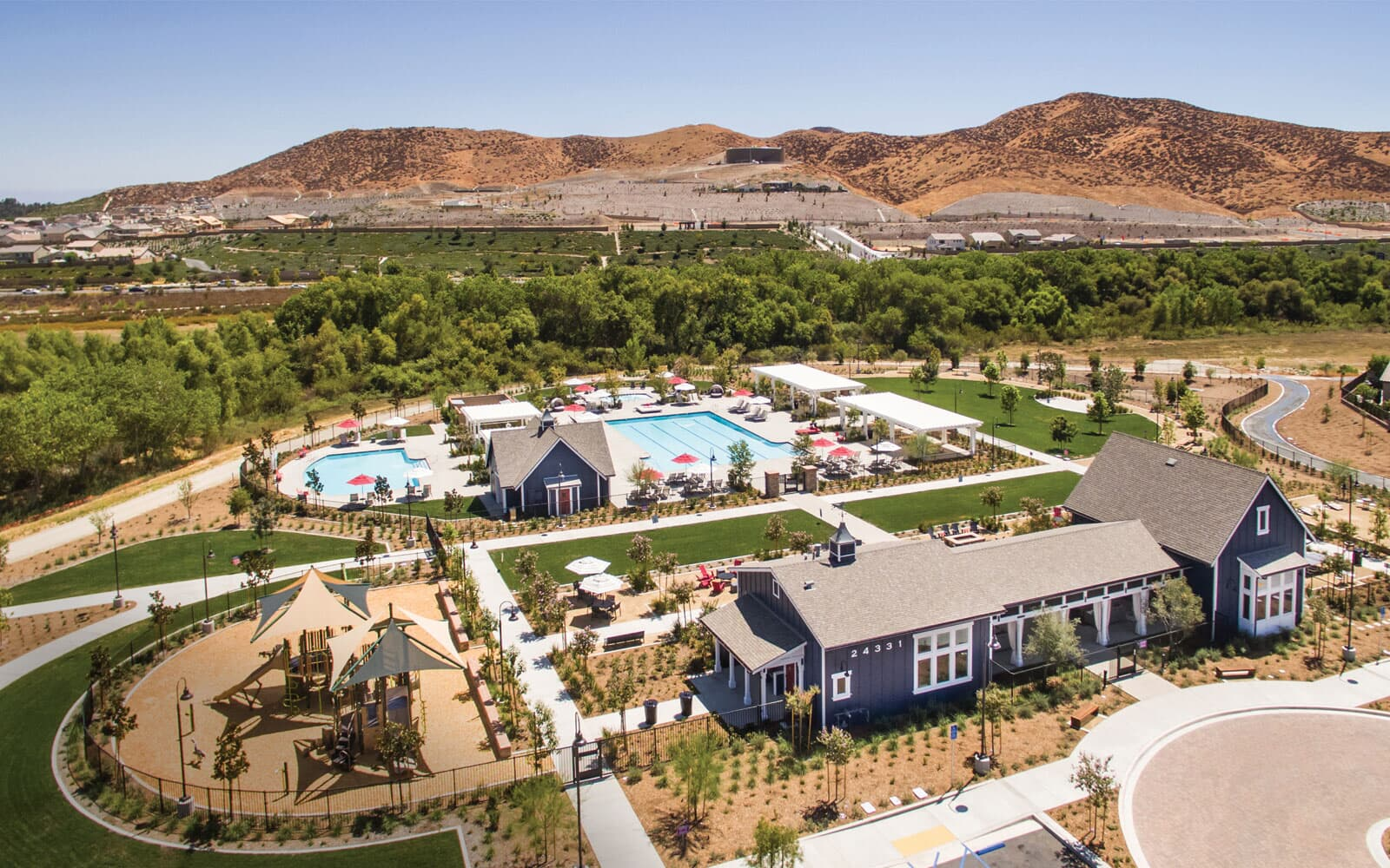 Aerial view | Audie Murphy Ranch in Menifee, CA | Brookfield Residental
