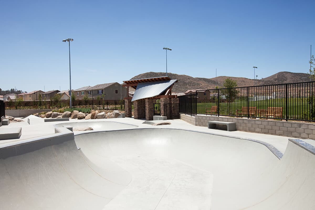 Skate park at Audie Murphy Ranch in Menifee, CA | Brookfield Residential