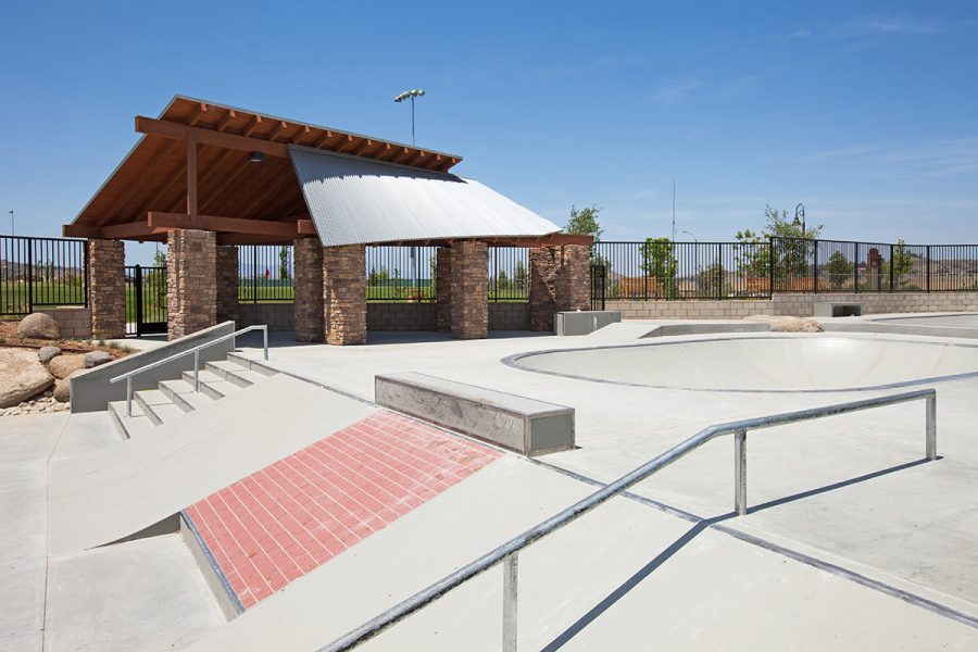 Skate rail at Audie Murphy Ranch in Menifee, CA | Brookfield Residential