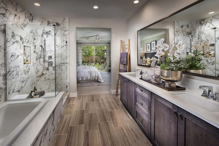 Plan 1 bathroom | Savannah at Audie Murphy Ranch in Menifee, CA | Brookfield Residential