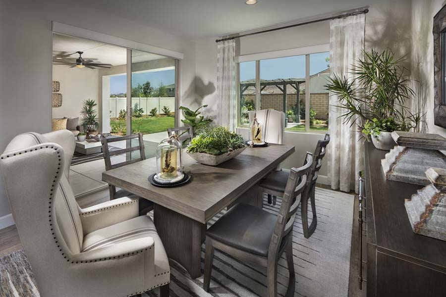 Plan 1 dining room | Savannah at Audie Murphy Ranch in Menifee, CA | Brookfield Residential