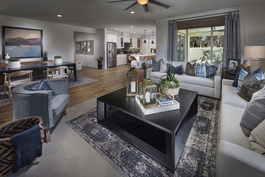 Plan 2 living room to dining room | Savannah at Audie Murphy Ranch in Menifee, CA | Brookfield Residential