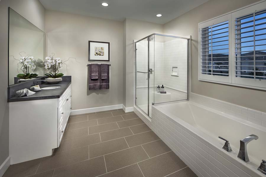Plan 3 bathroom | Savannah at Audie Murphy Ranch in Menifee, CA | Brookfield Residential