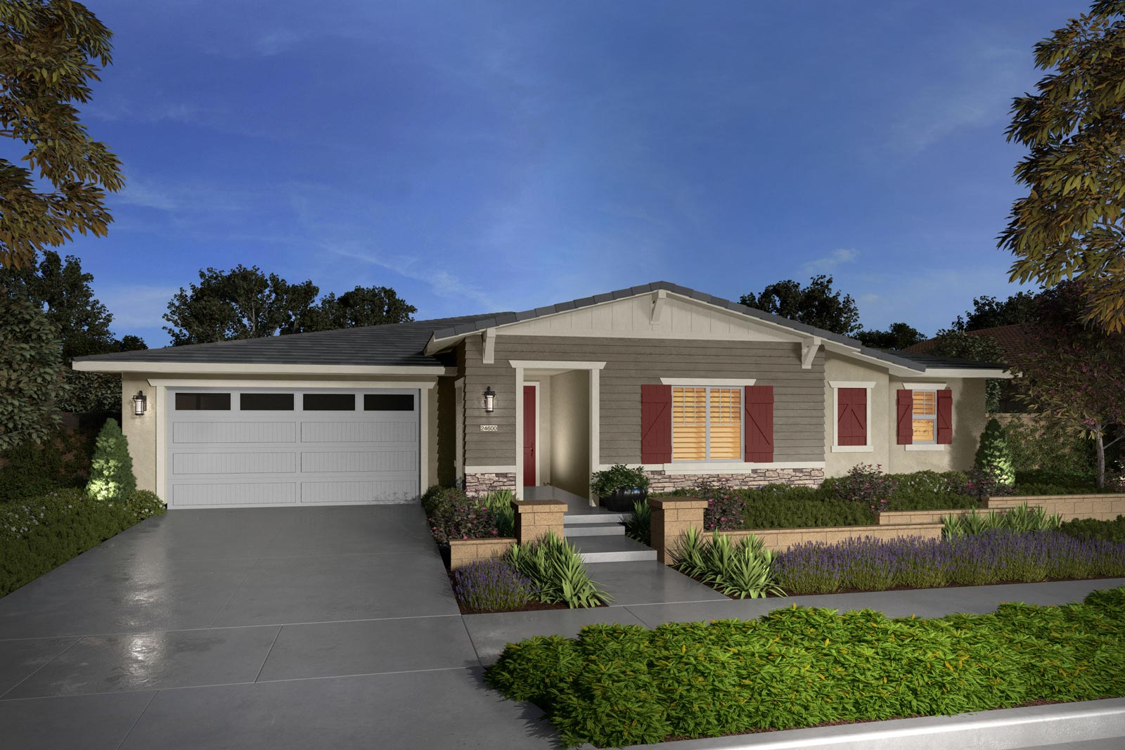 Plan 4D rendering | Savannah at Audie Murphy Ranch in Menifee, CA | Brookfield Residential