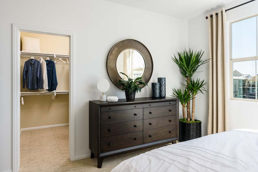 Master Bedroom Closet Residence 1 | Flora at the Village of Escaya in Chula Vista, CA | Brookfield Residential