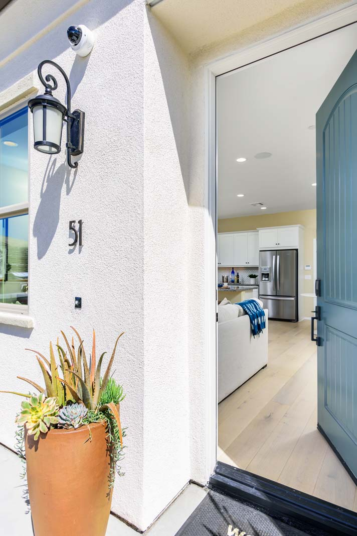 Entry of Residence 1 | Flora at the Village of Escaya in Chula Vista, CA | Brookfield Residential