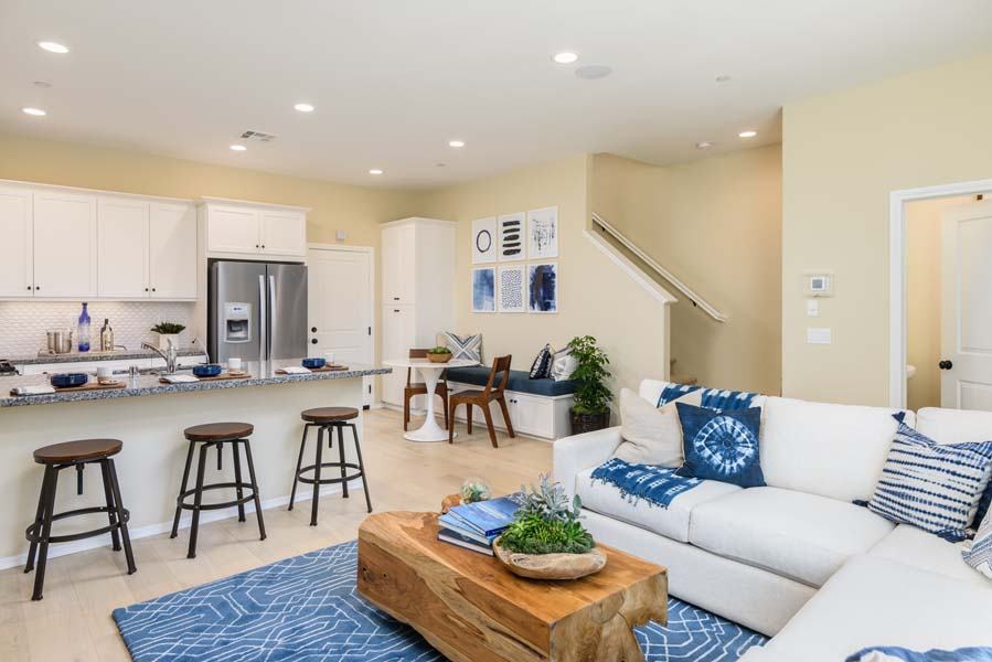 Great Room to Dining Residence 1 | Flora at the Village of Escaya in Chula Vista, CA | Brookfield Residential