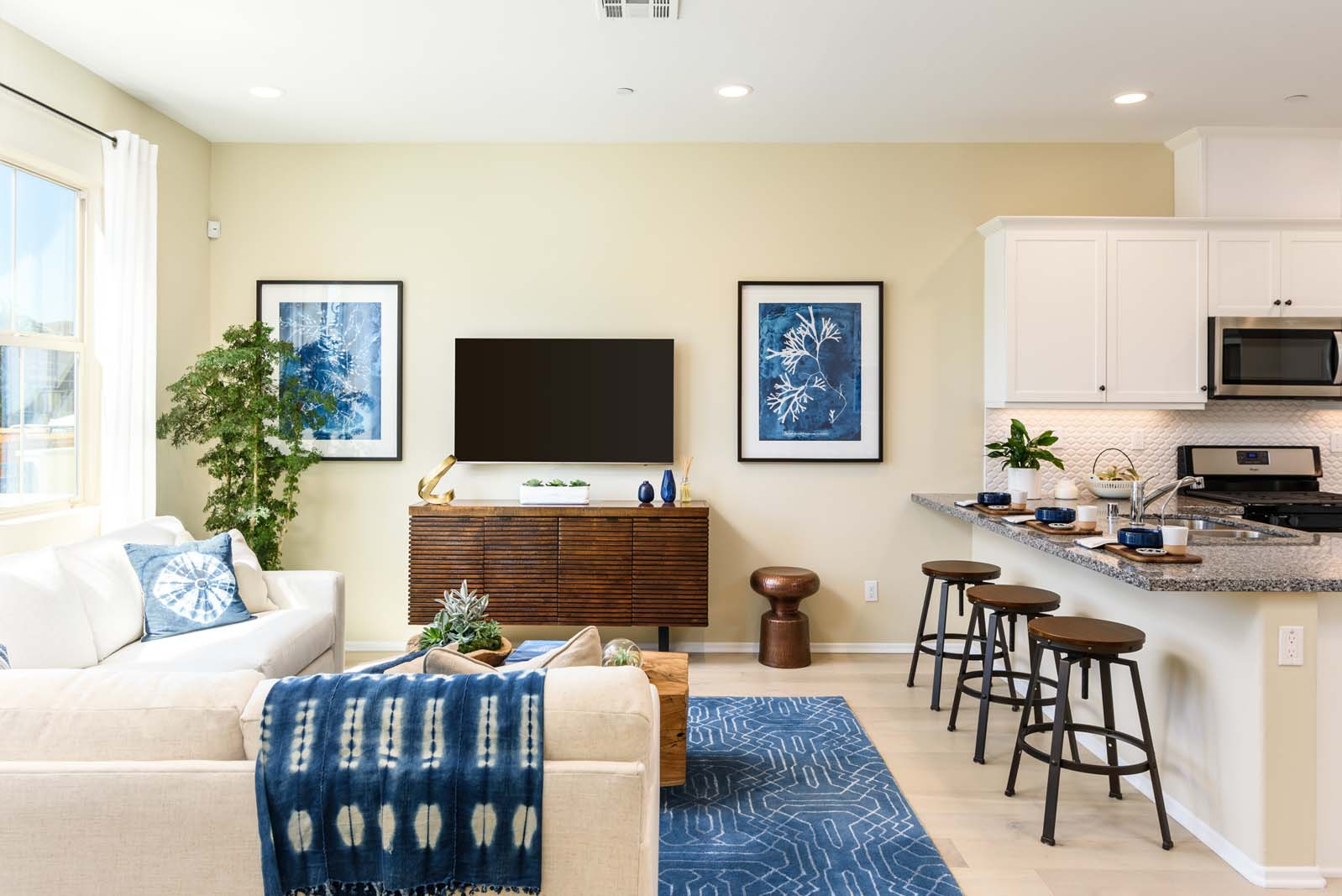 Great Room Residence 1 | Flora at the Village of Escaya in Chula Vista, CA | Brookfield Residential