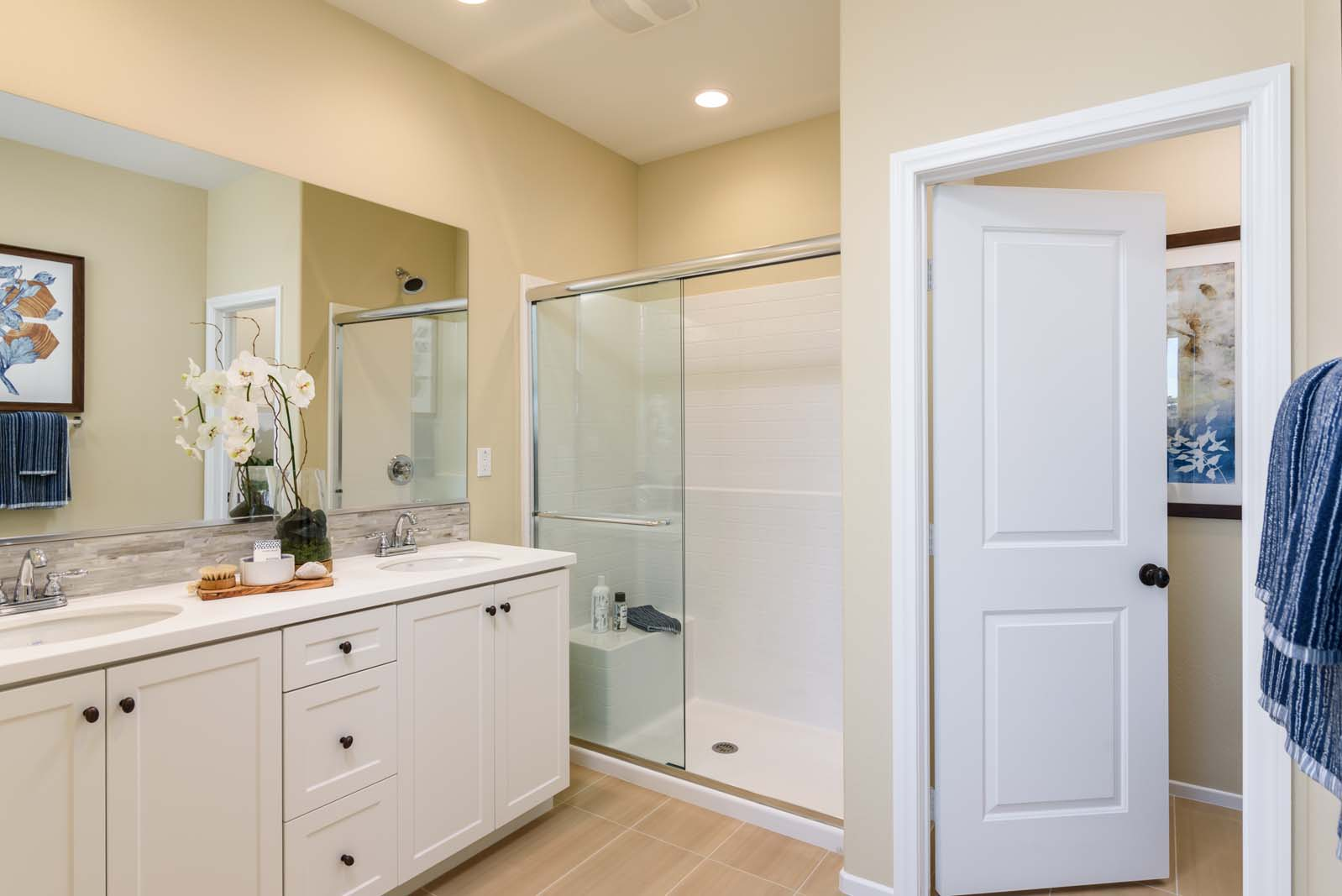 Master Bath Residence 1 | Flora at the Village of Escaya in Chula Vista, CA | Brookfield Residential