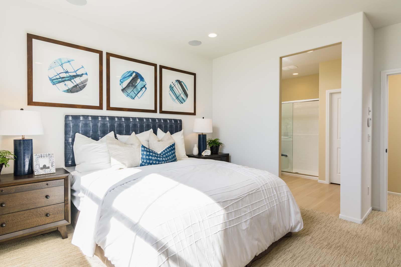 Master Bedroom to Bath Residence 1 | Flora at the Village of Escaya in Chula Vista, CA | Brookfield Residential