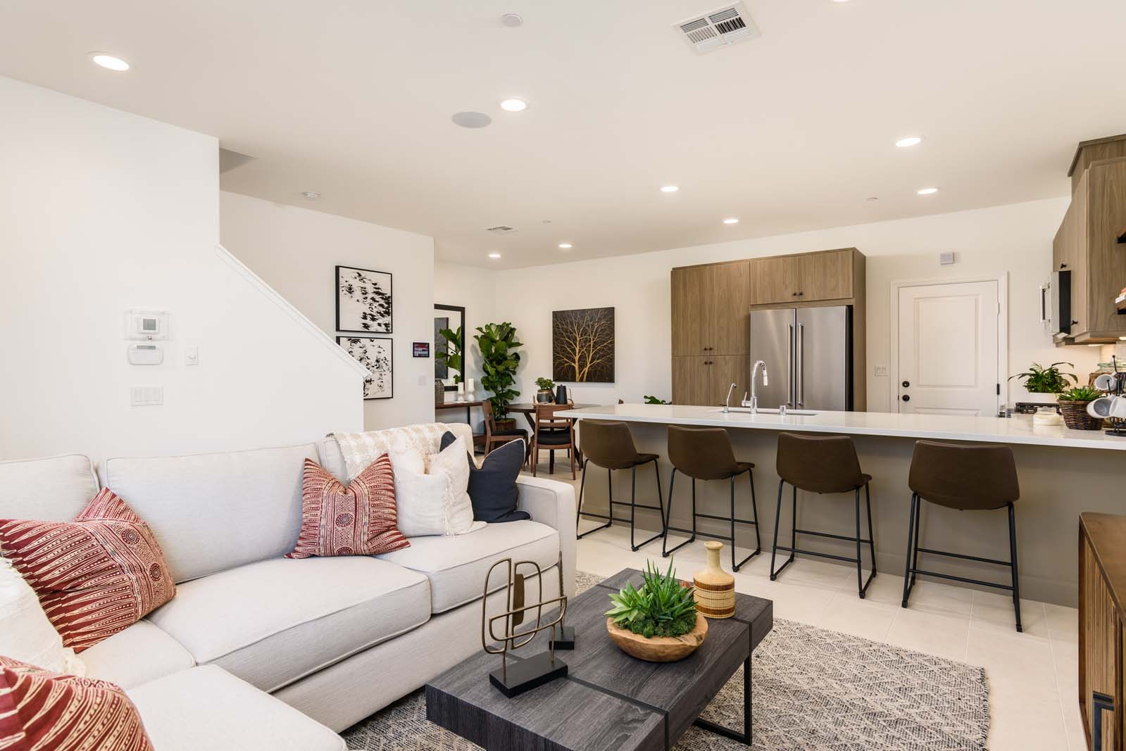 Great Room to Dining Residence 2 | Flora at the Village of Escaya in Chula Vista, CA | Brookfield Residential