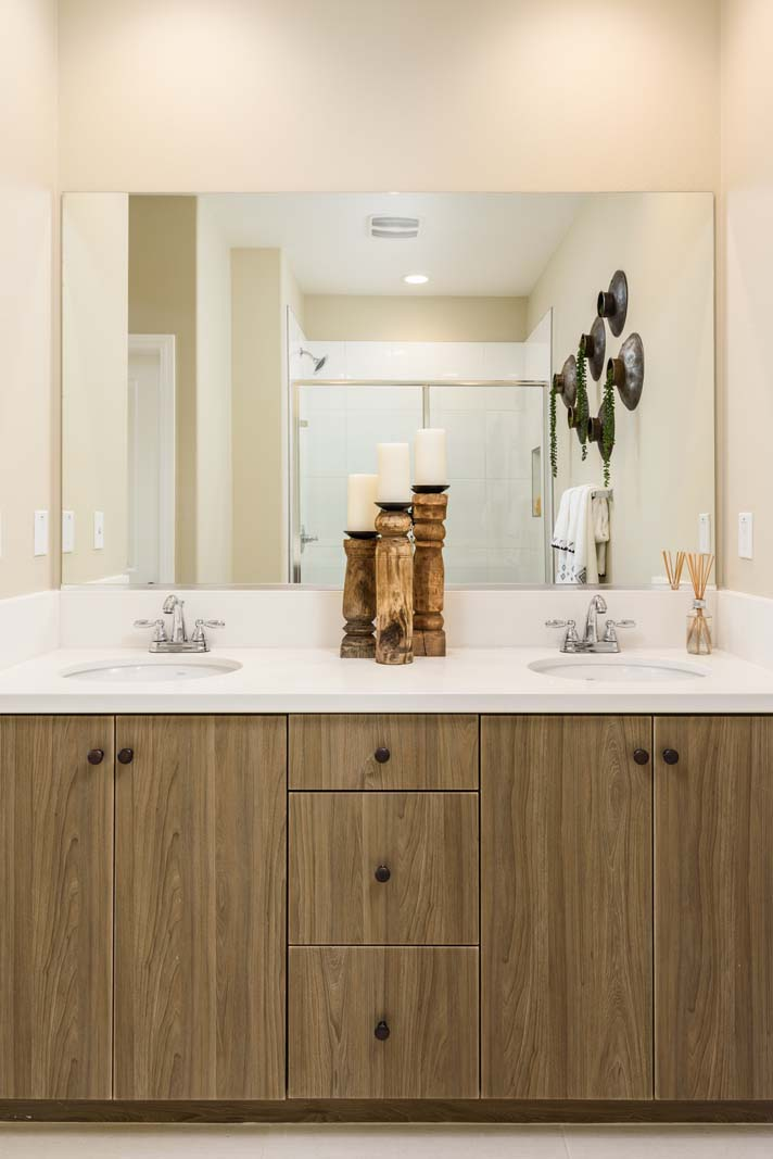 Master Bath Residence 2 | Flora at the Village of Escaya in Chula Vista, CA | Brookfield Residential