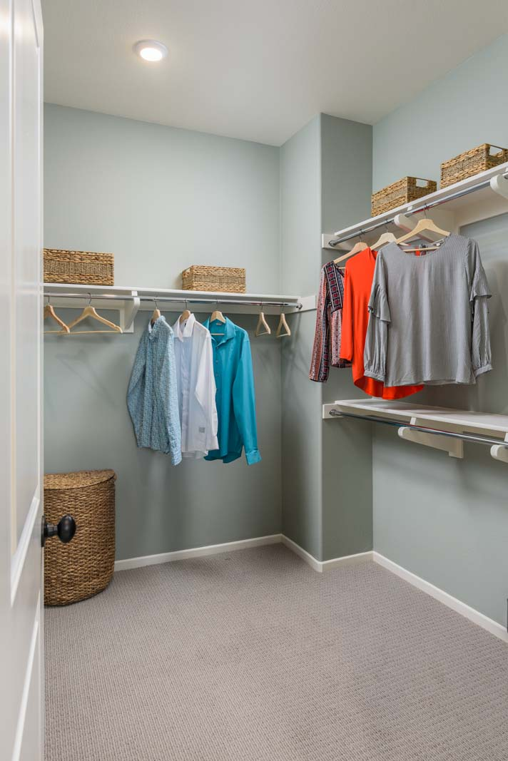 Walk-In Closet Residence 3 | Flora at the Village of Escaya in Chula Vista, CA | Brookfield Residential