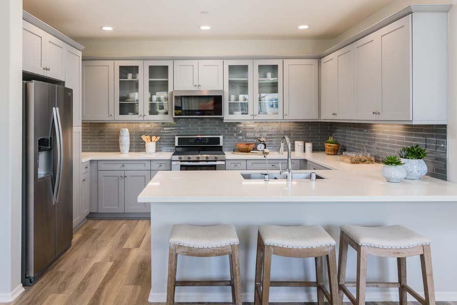 Kitchen Residence 3 | Flora at the Village of Escaya in Chula Vista, CA | Brookfield Residential