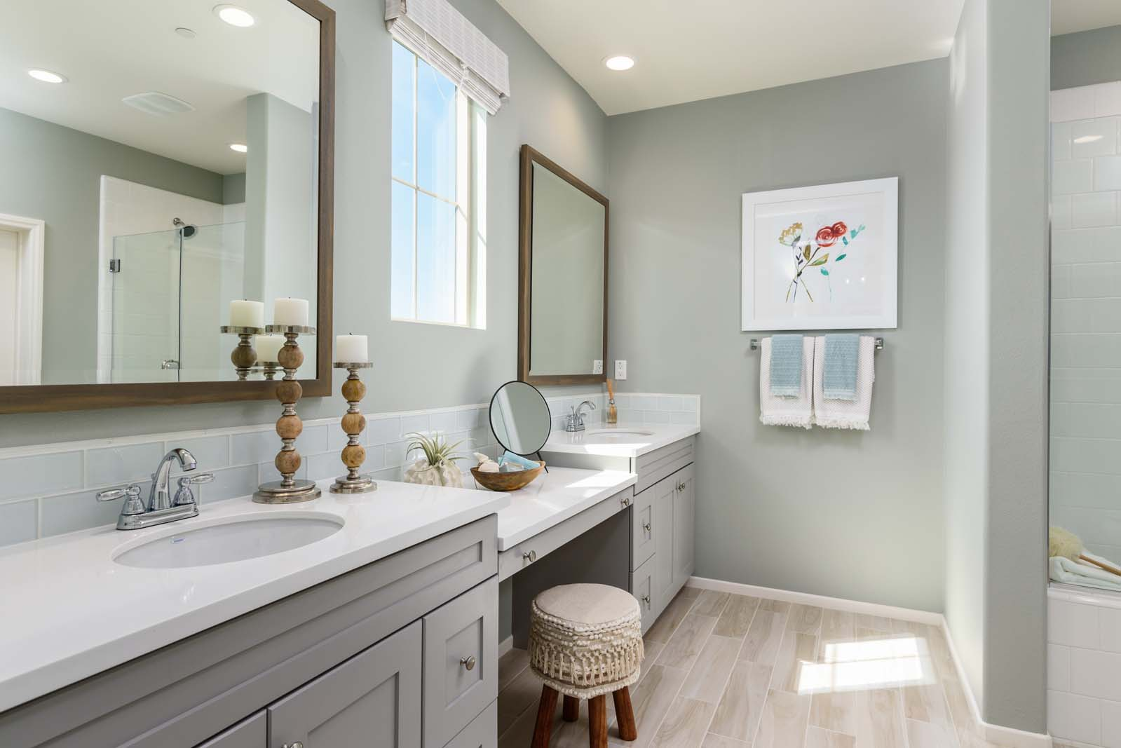 Master Bath Residence 3 | Flora at the Village of Escaya in Chula Vista, CA | Brookfield Residential