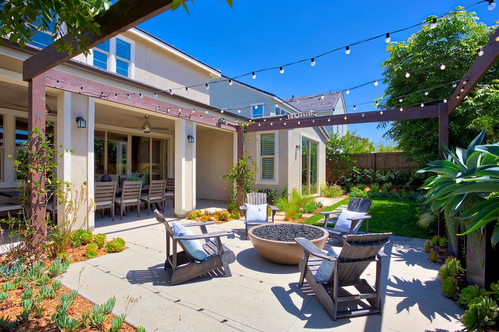 Residence 1 Back Yard | Haciendas at the Village of Escaya in Chula Vista, CA | Brookfield Residential