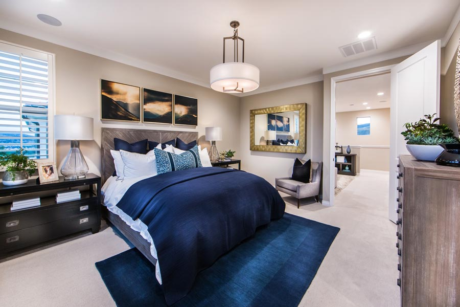 Residence 1 Master Bedroom | Haciendas at the Village of Escaya in Chula Vista, CA | Brookfield Residential