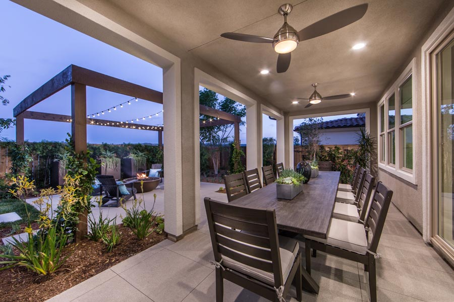 Residence 1 Outdoor Room | Haciendas at the Village of Escaya in Chula Vista, CA | Brookfield Residential