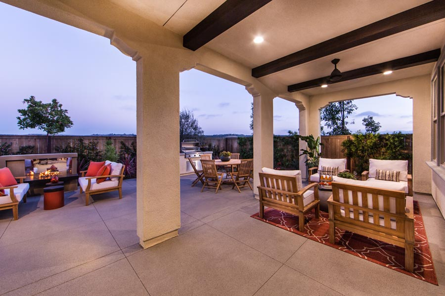 Residence 2 Outdoor Room | Haciendas at the Village of Escaya in Chula Vista, CA | Brookfield Residential