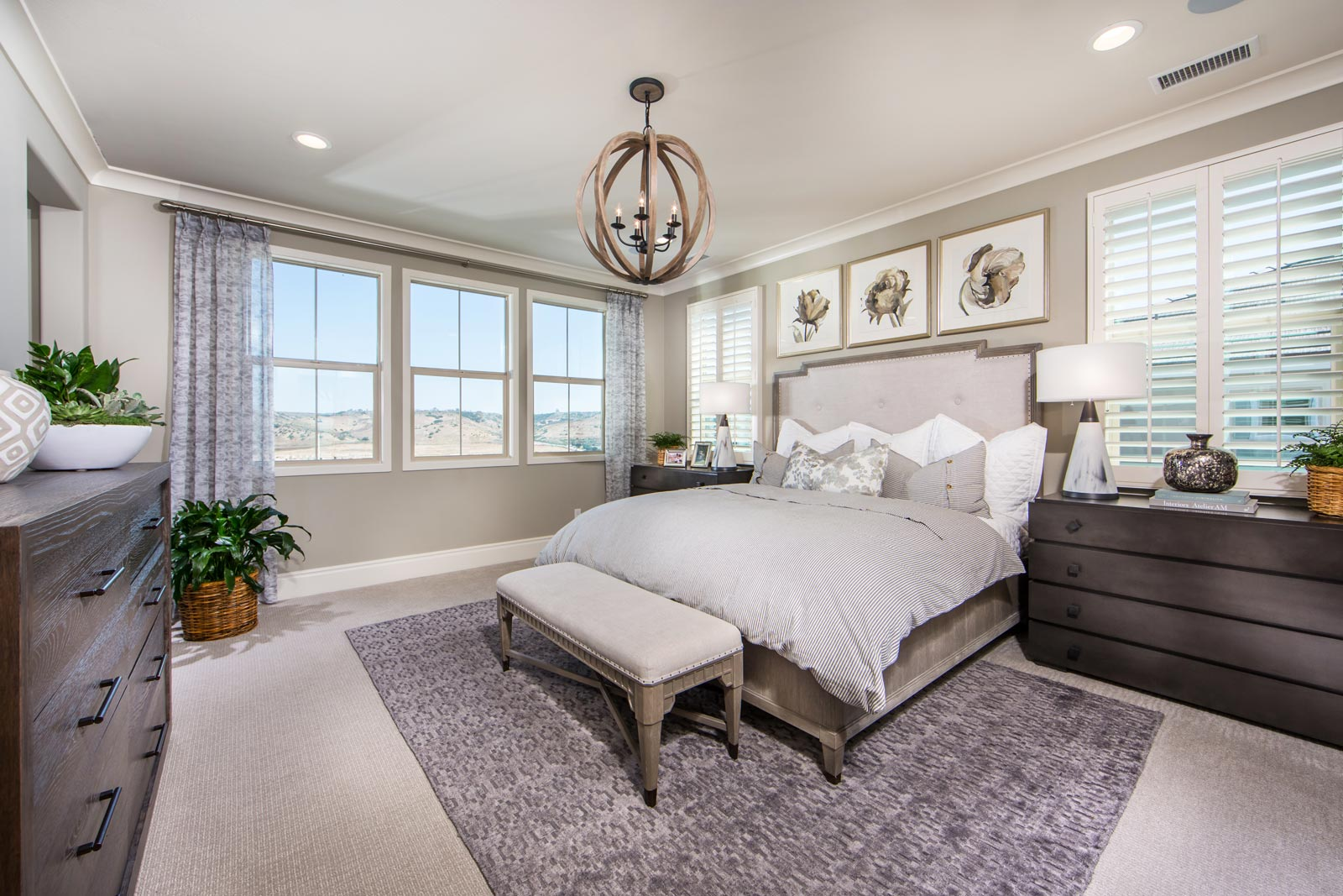 Residence 3 Master Bedroom | Haciendas at the Village of Escaya in Chula Vista, CA | Brookfield Residential